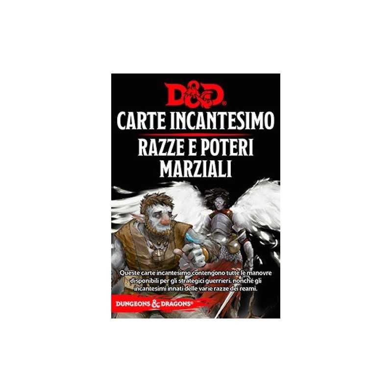 RAZZE E POTERI MARZIALI carte incantesimo DUNGEONS & DRAGONS 5a Edizione 61 CARTE incantatore IN ITALIANO