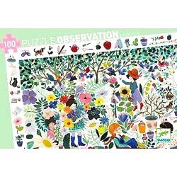 PUZZLE SCOPERTA 100 pezzi MILLE FIORI observation DJECO mille fleurs DJ07507 con poster GIOCO età 3+