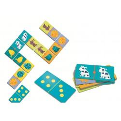 DOMINO 28 pezzi COLORI puzzle ANIMALI classico DJECO gioco DJ08111 bambini CARTONE età 3+