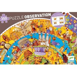 PUZZLE SCOPERTA 350 pezzi STORIA observation DJECO histoire DJ07470 con poster GIOCO età 7+