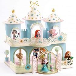 ZE PRINCESSES CASTLE Djeco PLASTICA E LEGNO castello per miniature ARTY TOYS action figure in resina DJ06769 età 4+