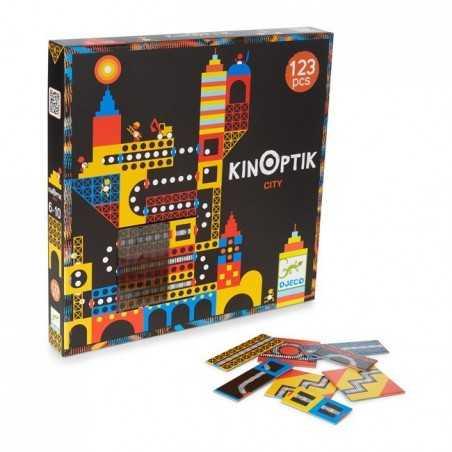 KINOPTIK CITY gioco 123 PEZZI magnetico DJECO immaginazione costruzione animazione DJ05610 età 6+