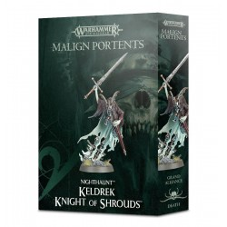 KELDREK KNIGHT OF SHROUDS araldo EROE Warhammer Death Malign Portents Games Workshop