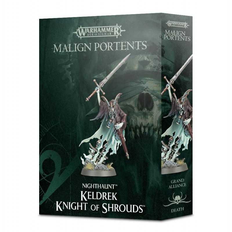 KELDREK KNIGHT OF SHROUDS araldo EROE Warhammer Death Malign Portents Games Workshop