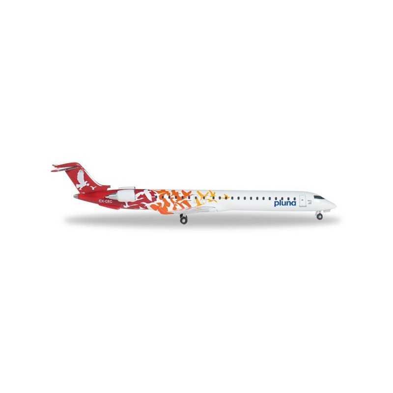 PLUNA LINEAS AEREAS URUGUAYAS BOMBARDIER CRJ-900 aereo in metallo 527446 modellino HERPA WINGS scala 1:500