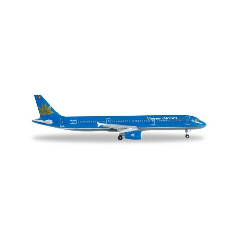 VIETNAM AIRLINES AIRBUS A321 aereo in metallo 527149 modellino HERPA WINGS scala 1:500