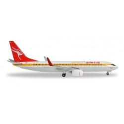 QANTAS BOEING 737-800 RETROJET aereo in metallo 527637 modellino HERPA WINGS scala 1:500