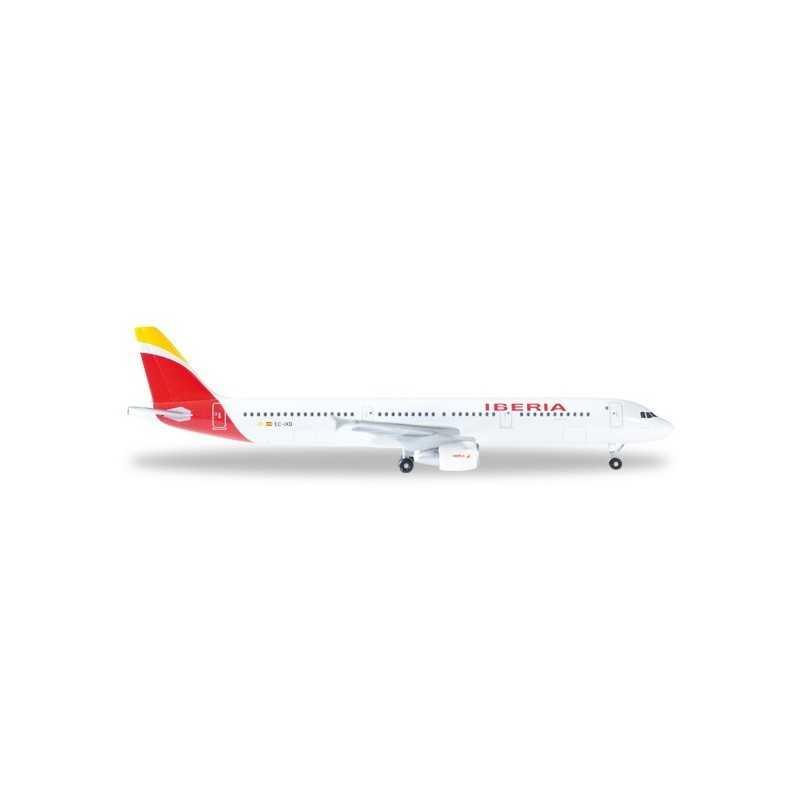 IBERIA AIRBUS A321 aereo in metallo 527439 modellino HERPA WINGS scala 1:500