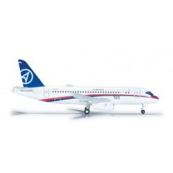 SUKHOI SUPERJET 100 aereo in metallo 526425 modellino HERPA WINGS scala 1:500