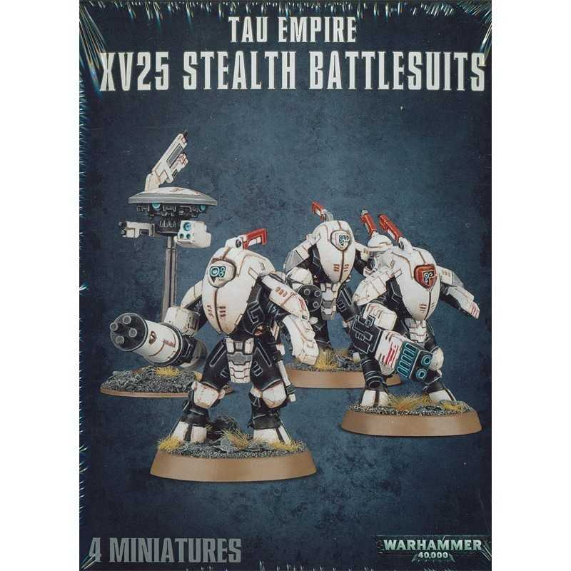 XV25 STEALTH BATTLESUITS Warhammer 40000 TAU EMPIRE 4 miniature CITADEL Games Workshop 40K età 12+