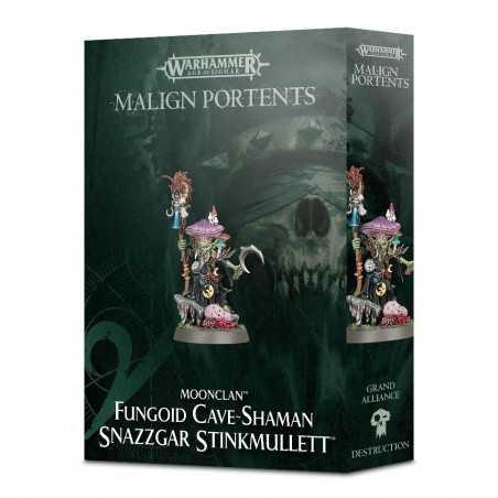 Moonclan FUNGOID CAVE-SHAMAN SNAZZGAR STINKMULLETT Warhammer Age Of Sigmar MALIGN PORTENTS miniatura CITADEL 12+