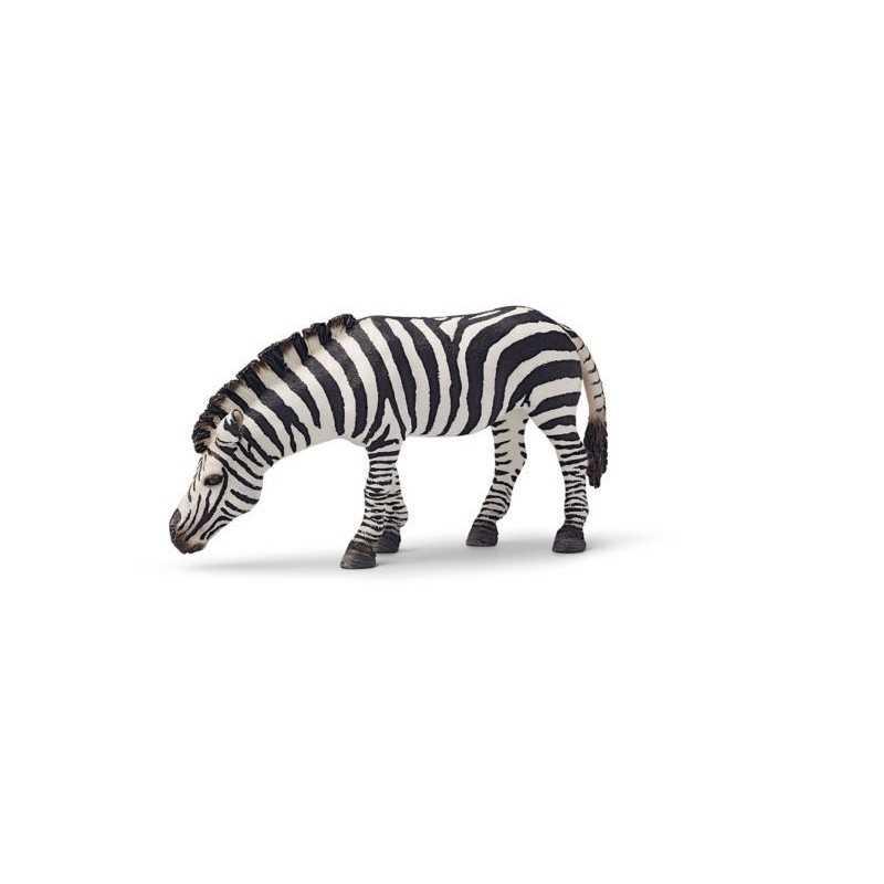 ZEBRA CHE BEVE animali WILD LIFE gioco SCHLEICH miniature in resina 14609 età 3+