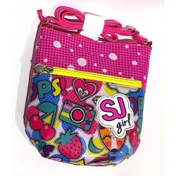 FLAT FASHION BAG tracollina SJ GANG multicolor CHERRY POP seven GIRL borsa SHOULDER mini