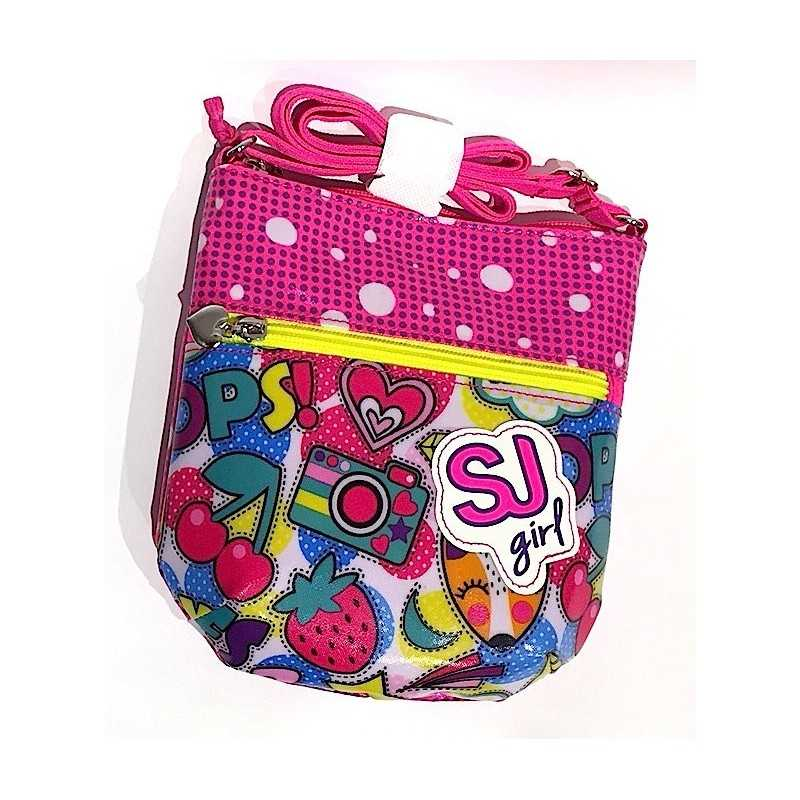 23b7c6634a FLAT FASHION BAG tracollina SJ GANG multicolor CHERRY POP seven GIRL borsa  SHOULDER mini