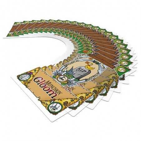 MUNCHKIN GLOOM italiano gioco di carte demenziale Raven 110 carte trasparenti