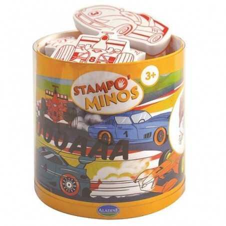 STAMPOMINOS10 TIMBRI con tampone NERO Aladine MACCHINE STAMPINI 3+