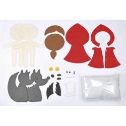 FAVOLE DEL BOSCO set da cucire e attaccare LARTE A PARTE kit cucito artistico 100% MADE IN ITALY stoffa MAGNETICO età 5+