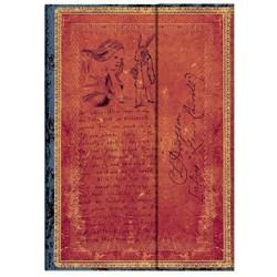 Diario bianco LEWIS CARROLL ALICE midi cm 13x18 - PAPERBLANKS 144 pagine NEL PAESE DELLE MERAVIGLIE