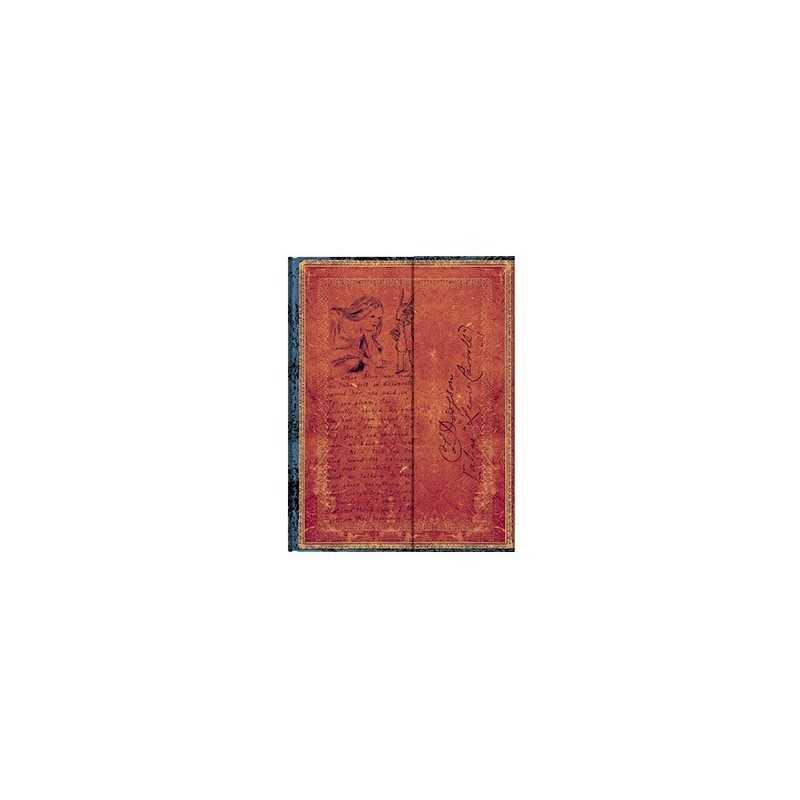 Diario a righe LEWIS CARROLL ALICE ultra cm 23x18 - PAPERBLANKS nel paese delle meraviglie taccuino