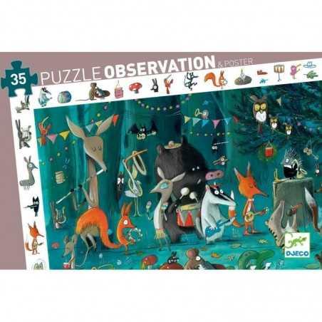 Puzzle scoperta OBSERVATION orchestra 35 PEZZI grandi CON POSTER l'orchestre 3+