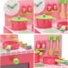 CUCINA DI LILI ROSE set da cuoca IN LEGNO forno pentola padella utensili saliere DJECO DJ06508 gioco KIT età 3+