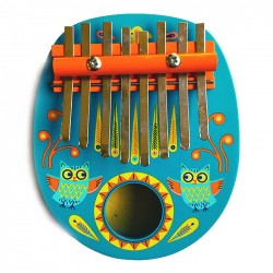 KALIMBA in legno e metallo ANIMAMBO gufi DJ06019 strumento musicale per bambini DJECO età 4+