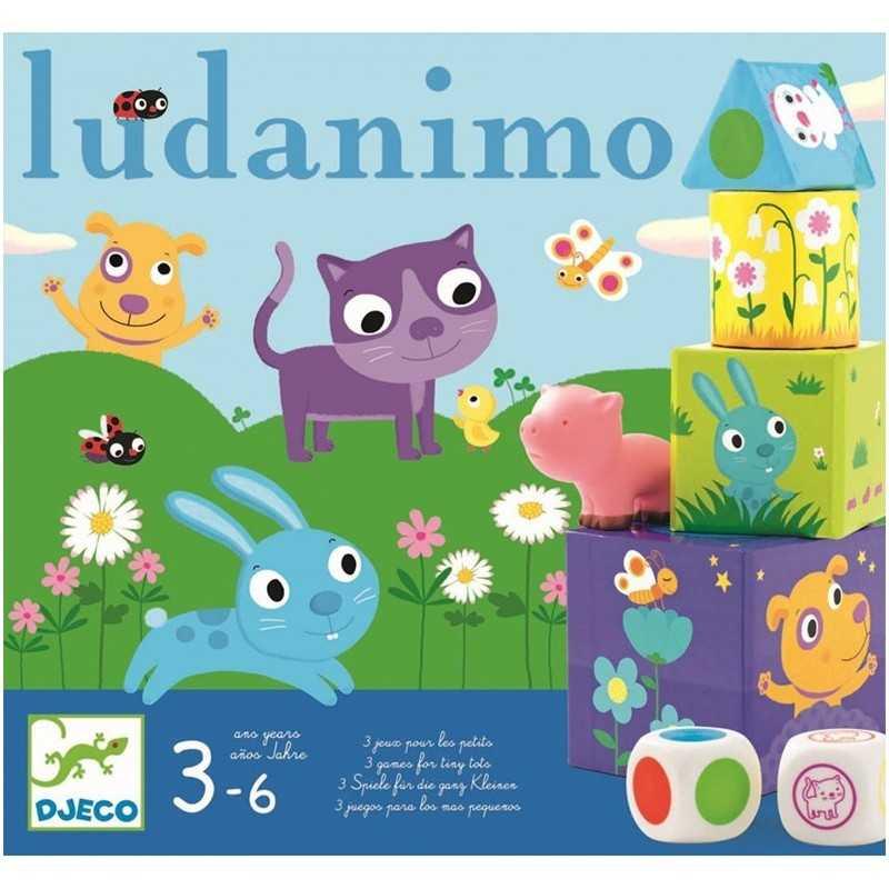 LUDANIMO gioco PERCORSO MEMORIA EQUILIBRIO forme colori DJECO animali DJ08420 età 3+