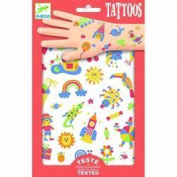 TATTOOS tatuaggi COSI CARINO bello SO CUTE rimuovibili DJECO 76 tatuaggi DJ09589 età 3+