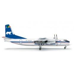 ANTONOV POLAR AIRLINES AN-24B aereo in metallo 555104 modellino HERPA WINGS scala 1:200 plane