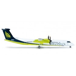 SKYWORK AIRLINES BOMBARDIER Q400 aereo in metallo 554923 modellino HERPA WINGS scala 1:200 plane
