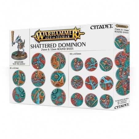 SHATTERED DOMINION bases mm 25 e 32 - 70 basette Citadel Warhammer Age of Sigmar