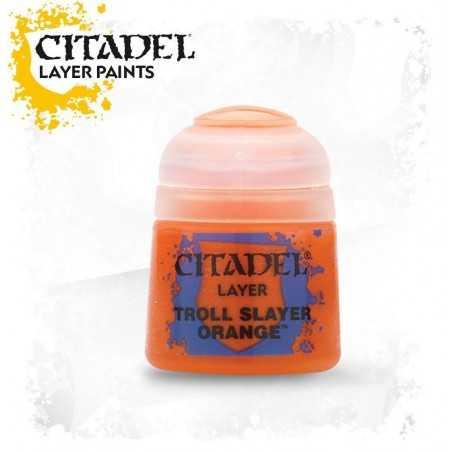 TROLL SLAYER ORANGE Citadel paint colore acrilico layer 12 ml Warhammer Games Workshop