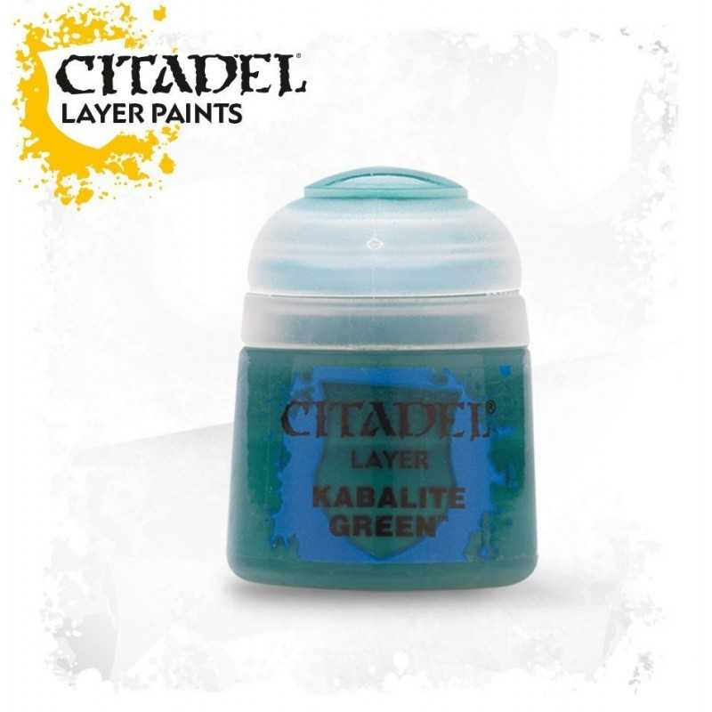 KABALITE GREEN Citadel paint colore acrilico layer 12 ml Warhammer Games Workshop