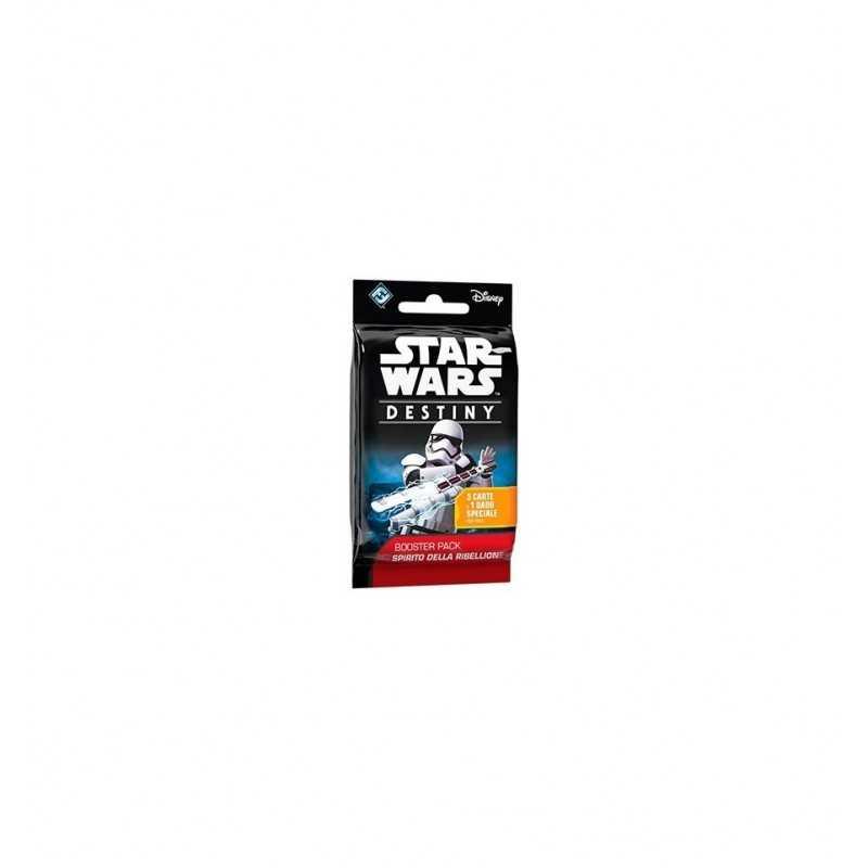 STAR WARS Destiny BOOSTER PACK Spirito Della Ribellione 5 CARTE E 1 DADO SPECIALE Disney ESPANSIONE età 10+