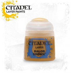 BALOR BROWN Citadel paint colore acrilico layer 12 ml Warhammer Games Workshop