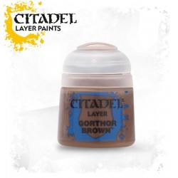 GORHOR BROWN Citadel paint colore acrilico layer 12 ml Warhammer Games Workshop