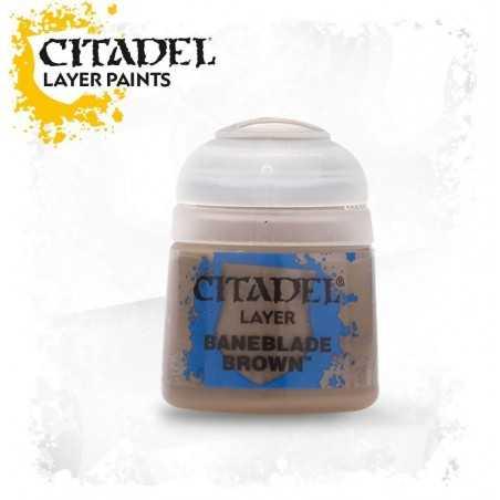 BANEBLADE BROWN Citadel paint colore acrilico layer 12 ml Warhammer Games Workshop