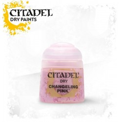 CHANGELING PINK colore DRY Citadel WARHAMMER Games Workshop ROSA boccetta 12 ML pennello asciutto
