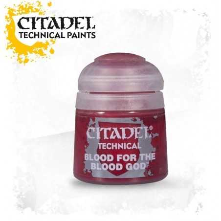 BLOOD FOR THE BLOOD GOD colore TECHNICALS Citadel WARHAMMER Games Workshop SANGUE rosso 12 ML