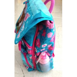 ZAINO wwf GIRL backpack CANE tyler 2018 rosa e azzurro RACHAEL HALE scuola ESTENSIBILE + borraccia