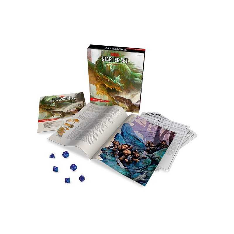 STARTER SET Dungeons & Dragons 5a edizione in italiano Asmodee 2017 D&D per cominciare