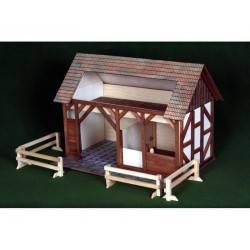 Große Holz-Stall