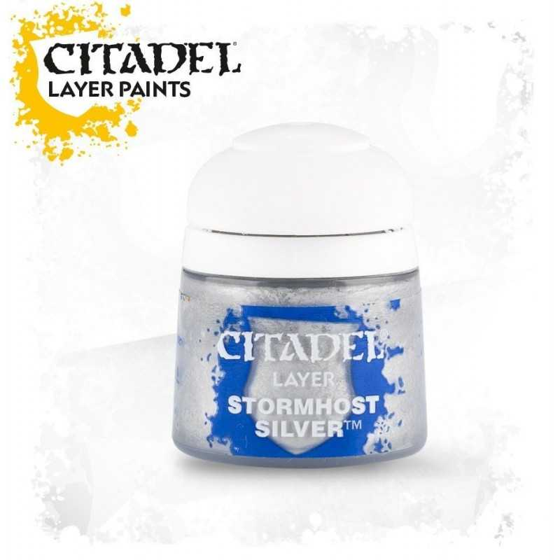 STORMHOST SILVER colore Citadel paint layer argento Warhammer 12 ml