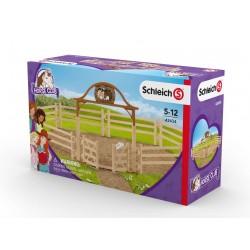RECINTO CON CANCELLO DI INGRESSO Schleich 42434 Horse club cavalli fence