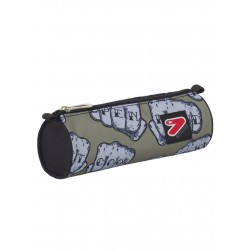 ASTUCCIO KNOCK Seven PENCIL BAG The Double Project VERDE MILITARE fantasia PORTAPENNE