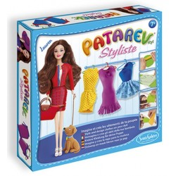 PATAREV kit artistico STYLISTE LAUREN abiti in plastilina SENTOSPHERE creativo CON BAMBOLA INCLUSA età 7+