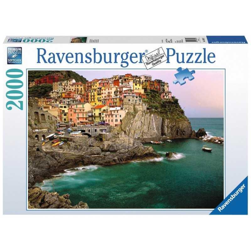 PUZZLE ravensburger CINQUE TERRE 2000 pezzi ORIGINALE 98x75cm