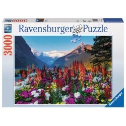 PUZZLE ravensburger MONTAGNE FIORITE 3000 pezzi ORIGINALE 121x80cm PAESAGGI
