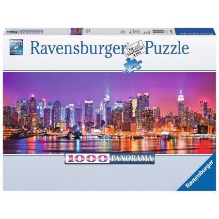 PUZZLE ravensburger LUCI DI MANHATTAN 1000 pezzi ORIGINALE 98x37cm SKYLINE