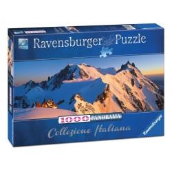PUZZLE ravensburger MONTE BIANCO 1000 pezzi PANORAMA 70 x 50 cm COLLEZIONE ITALIANA